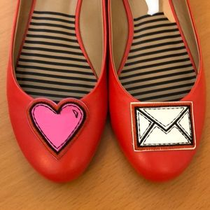 New Dolce Vita flats, red, never worn. Size 8.